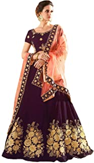 6c76431e1a Arohi fab LENGHA CHOLI Women'S Semi-Stitched Taffeta Silk Long Gown  (Guldasta Free Size