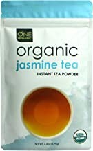 ONE ORGANIC Instant Tea Powder (Jasmine) – 4.4 oz. – 125 Servings – USDA Certified Organic – 100% Pure Tea - Instant Hot or Iced Tea – Unsweetened – No Fillers or Preservatives