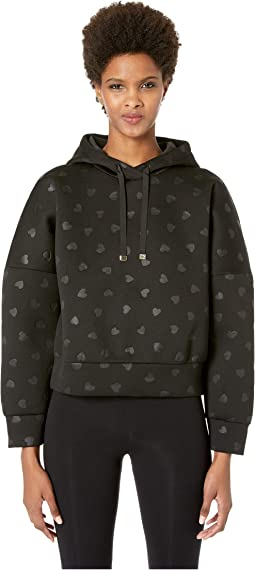 Heart It Embossed Heart Hoodie