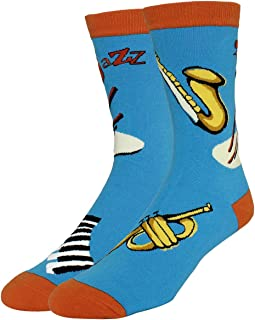 Men's Novelty Funny School Book Math Crew Socks, Gift for Nerd Genius Teacher