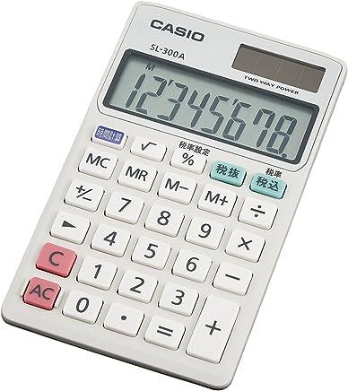 CASIO 手帳タイプ8桁表示電卓 SL-300A-N