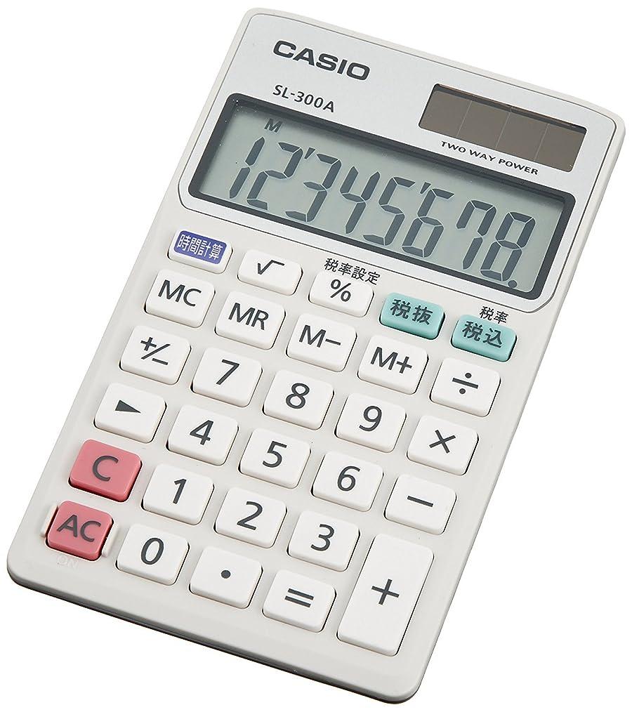 海洋の役に立つ大型トラックCASIO 手帳タイプ8桁表示電卓 SL-300A-N