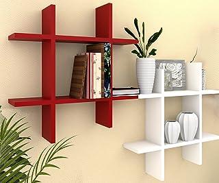 Amaze Shoppee Exclusive Designed Hashtag Floating Wall Mount Shelf Display Shelves Storage Organizer for Wall Decoration o...
