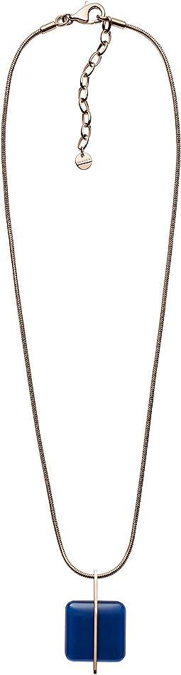 Seaglass Rose-Tone Necklace