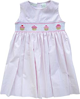 Carriage Boutique Baby Girl Spring Sleeveless Dress - Pink Cupcakes