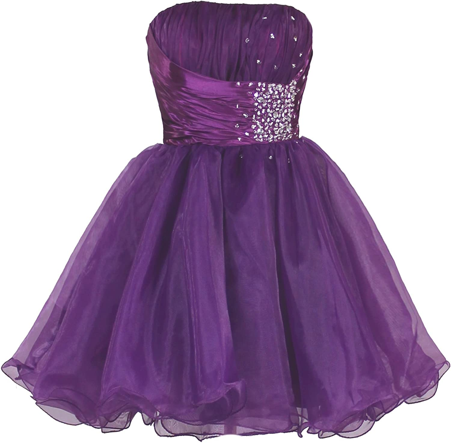Faironly Zm3 Homecoming Mini Party Cocktail Dress (Purple)