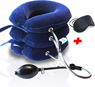 Neck Traction Device No1 Doctors Recommended CHISOFT Unique Safety Detachable Connection, (2nd Edition) Cervical Neck Stretcher, Corrects Posture, Helps Neck Pain