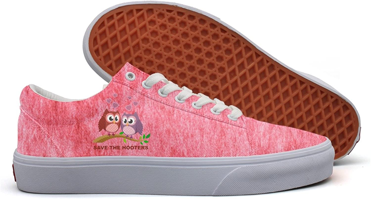 Save The Hooters Womens Breathable Canvas shoes for Women