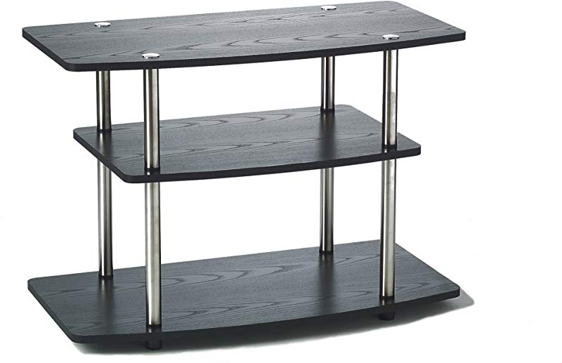 Convenience Concepts 131020 Designs2Go 3 Tier TV Stand Black