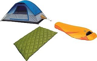 Alpinizmo High Peak USA 20F & Latitude 20F Sleeping Bag with Magadi 5 Tent Combo, Blue/Orange/Green, One Size