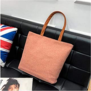 Shoulder Bag Canvas Girl Fashion Useful Solid Totes handbag