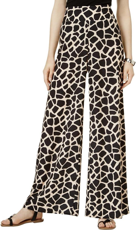 Bar Iii Womens Giraffe Casual Wide Leg Pants