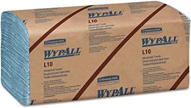 WypAll 05123 L10 Windshield Towels, 1-Ply, 9 1/10 x 10 1/4, 1-Ply, 224 per Pack (Case of 10 Packs)
