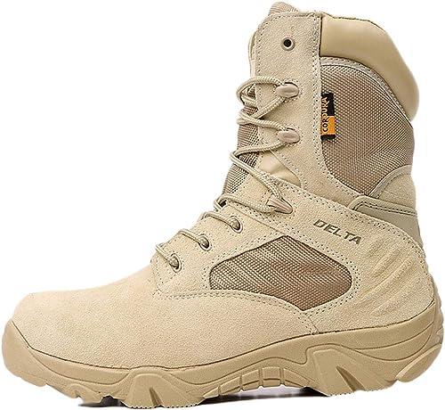 Liabb Hommes Delta Combat Tactics Bottes Désert Forces Spéciales Chaussures Chaussures Chaussures Armée Armé Botte Militaire Alpinisme en Plein Air Randonnée Chaussure De Sécurité,Beige,40 737
