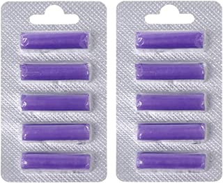 Queenbox 2 Pack Vacuum Air Freshener Sticks for Dust Cup and Dust Bag Lavender Perfume Scent 10Pcs