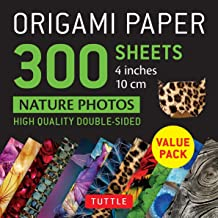 Origami Paper 300 sheets Nature Photo Patterns 4 inch (10 cm