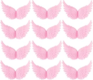Azude Plastic Angel Wings for Crafts, Pink 12 pcs 80mm