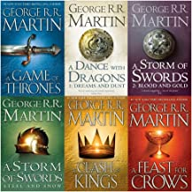 Game of Thrones Collection George R.R. Martin 6 Books Set (A Dance With Dragons, A Feast for Crows, A Storm of Swords: Blo...