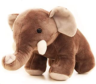 OuMuaMua Lovely Stuffed Animal Toys Gift - Cute Plush Elephant Dolls, Animated Brown Elephant for Babies Infants Toddlers Kids, 10''