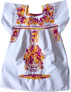 Vestito per bambina 1 anno - vestito di fiori ricamati - vestito messicano - Vestito estivo per ragazza - Mexican girls dr...