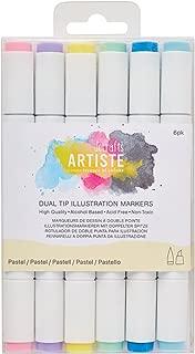 DOCrafts Artiste Dual Tip Illustration Markers, Pastel, 9.2 x 1.7 x 15 cm
