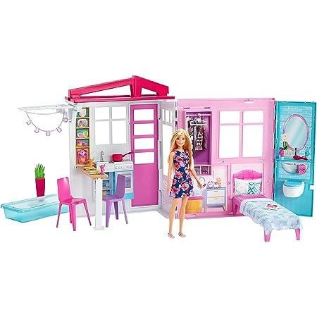 バービー かわいいピンクのプールハウス