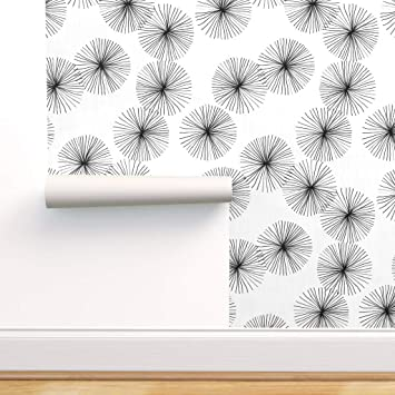 Peel-and-Stick Removable Wallpaper White Retro Modern Geometric Abstract Style
