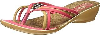 VKC Pride Women's Faux Leather Green Fashion Sandals (2000425409PKBG)