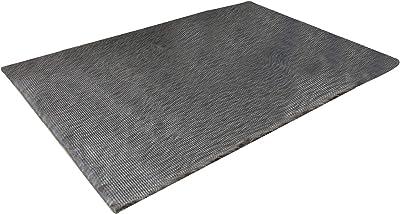 Benjara 7 X 5 Feet Power Loomed Rectangular Rug with Wavy Fur Like Texture, Gray