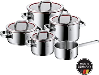 WMF Function 4 - Batería de Cocina, Cromargan Acero Inoxidable, 1 Cacerola de 16 cm, 3 Ollas altas con Tapa, 1 olla de cocción con tapa , 5 Piezas (Reacondicionado)