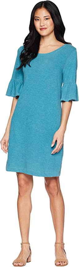 Heavy Slub Ruffle Sleeve Dress