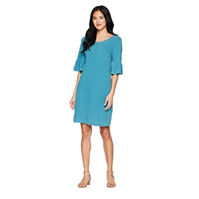 Splendid Heavy Slub Ruffle Sleeve Dress (Vintage Seagreen) Women