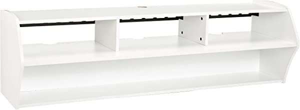 Rockpoint Bisenzio 58 Inch Floating Wall Mounted TV Stand Pure White