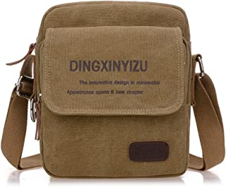 Djyyh Men's Lady Portable Fabric Bag Casual Outdoor Briefcase Shoulder Messenger Satchel Crossbody Handbag Gift Present (Color : A)
