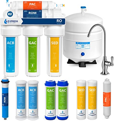 Express Water RO5DX Reverse Osmosis Filtration NSF Certified 5 Stage RO System with Faucet and Tank – Under Sink Wate...