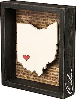 "Primitives by Kathy Box Sign, 6.75"" x 7.5"", Ohio"