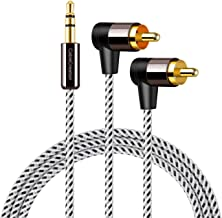 RCA Cable,CableCreation 10FT 3.5mm Male to 2RCA Male Stereo Audio Y Cable,Dual Shielded 24K Gold-Plated RCA Headphone Adapter