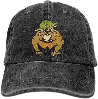 Marine Corps Bulldog USMC Logo Adult Dad Hat Baseball Hat Vintage Washed Distressed Cap