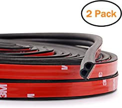 2-Pack Total 32.8 Ft Automotive Seal Strip Rubber Edge Weatherstrip for Car Window Door Protector Soundproofing Engine Cover Trim B Shape
