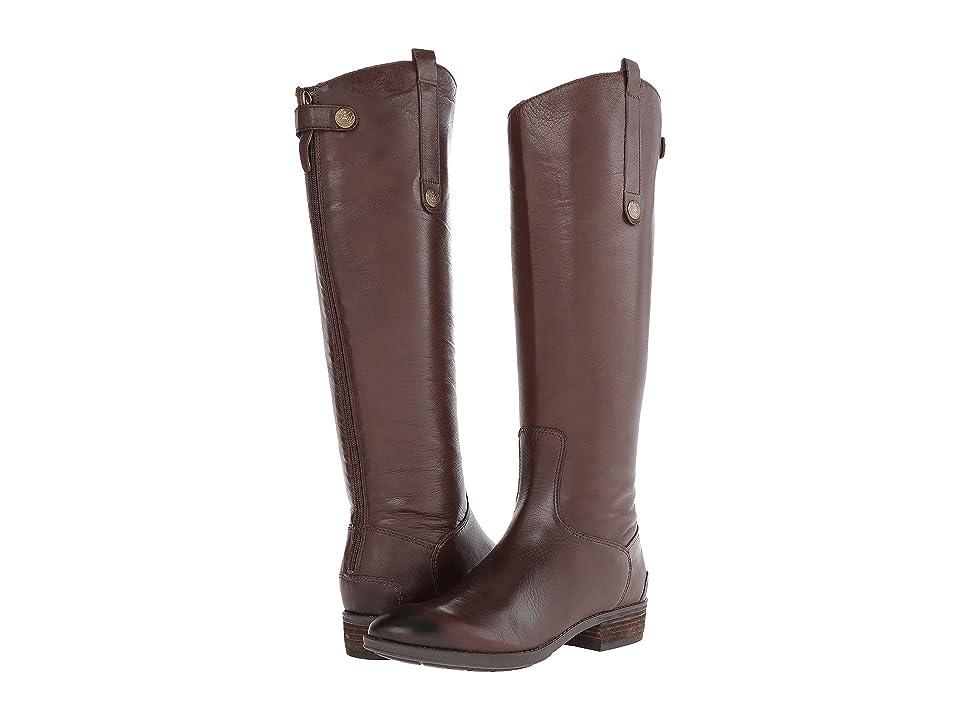 Sam Edelman Penny Leather Riding Boot (Dark Brown) Women
