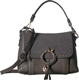 Joan Suede & Leather Studded Small Shoulder Bag