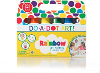 ! Markers 6-Pack Rainbow Washable Paint Markers, The Original Dot Marker