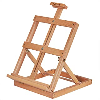MEEDEN Artist Tabletop Wooden H-Frame Studio Easel - Artists Adjustable Beechwood Painting and Display Easel, Holds Up to ...