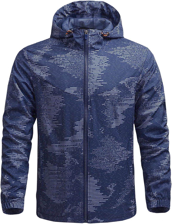 Man's Plus Size Raincoat Waterproof Trench Coat Outdoor Hooded Light Rain Jacket Pockets Windbreaker