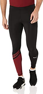 PUMA Men's GETFAST Thermo-R+ Long Tight, Black/Rhubarb