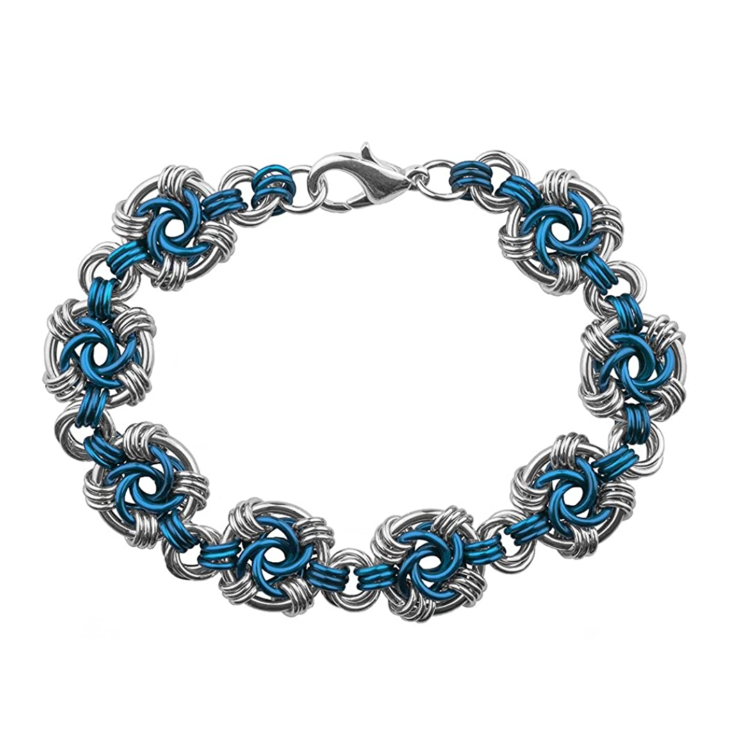 Weave Got Maille Lapis Swirls Chain Maille Bracelet Kit