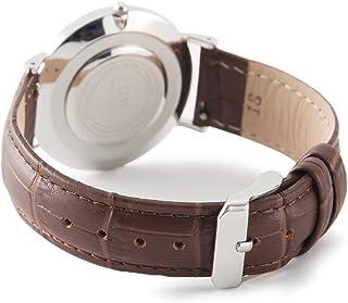 腕時計 ベルト 本革 クロコダイル型押し ワンタッチで装着簡単 DW ダニエルウェリントン ノット セイコー シチズン に最適 バネ棒加工付き
