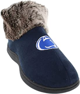 Comfy Feet Womens NCAA College Faux Sheepskin Fur Top Slipper Boots