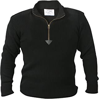 1/4 Zip Acrylic Commando Sweater
