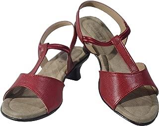 Leatherwood 1 Back Strap Multi Color Kitten Heels Sandal